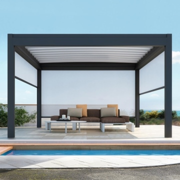 Automatic Retractable Sliding And Folding Waterproof Terrace Roof Aluminum Pergola Outdoor