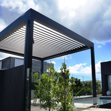 Aluminum Veranda and Terrace Roof with Glass Sliding Doors