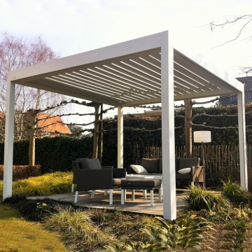 Classic patio cover in matt anthracite of 6.06 x 2.5 meters with opal polycarbonate
