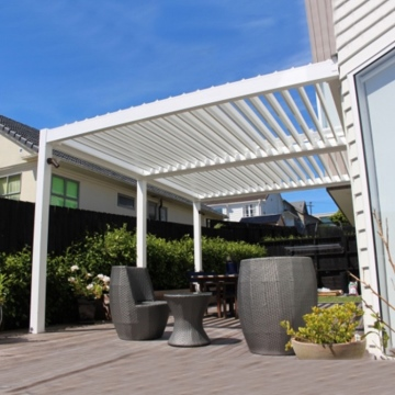 Outdoor New Design Bioclimatic Cheap Aluminium Pergola Fabric Canopy Covers Sunshading Sliding Shading Patio Awnings Roof Cover
