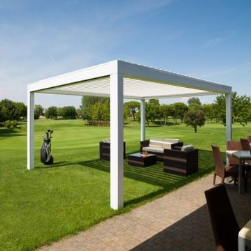 Eco Friendly Automated Pergola Private Residence Waterproof Aluminum Frame Pegola Electric Retractable Awning Roof Systems