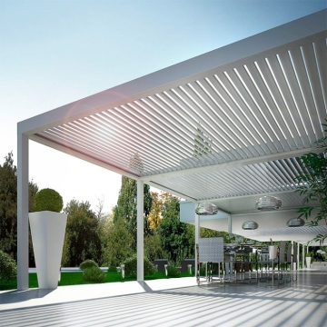 Motorized Waterproof Aluminum Louvre Pergolas solutions Designs Patio Covers