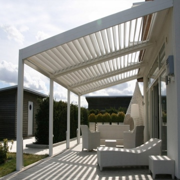 Luxury Vacation Prefabricated  Easy Install Outdoor Wood Grain Surface Composite Pergola Glass Made In India Best Quality