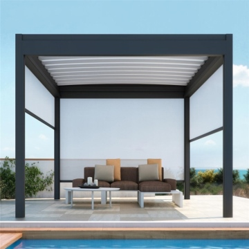 Aluminium sun shade adjustable external louver