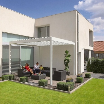 Sun Frame Internal and external glass aluminium house pergola sunroom louver shutter