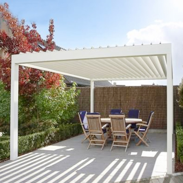 New Product Best Price Pergola With Motorized louver roof Systems