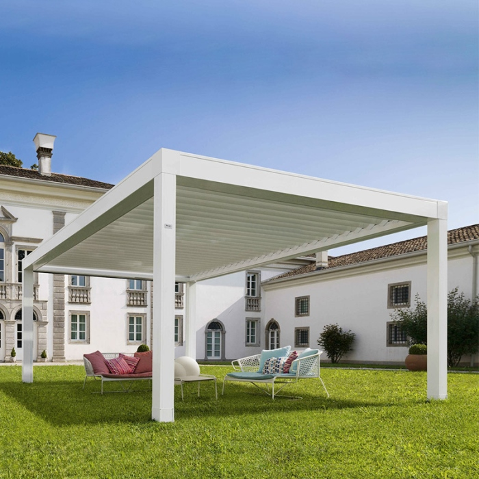 Outdoor electric motorised balcony iron pergola/aluminium pergola